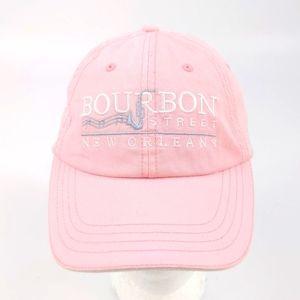 Bourbon Street New Orleans Pink Strapback Hat Cap